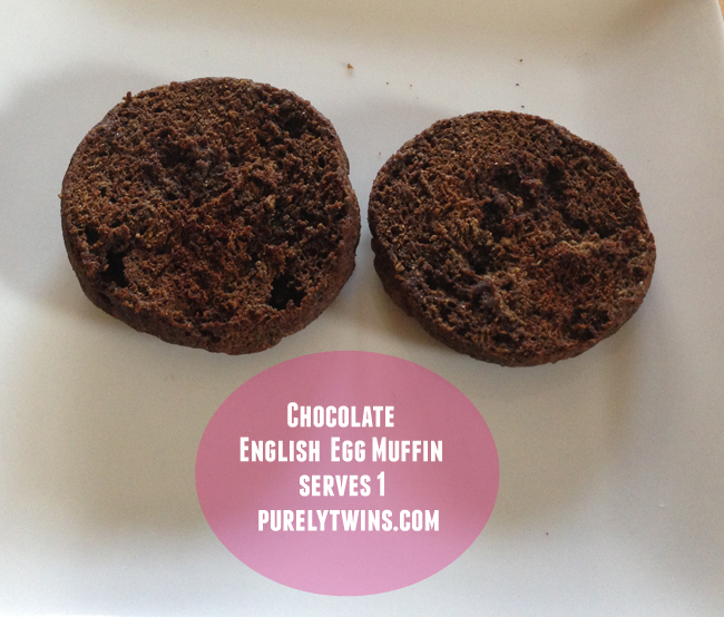 single serving chocolate english muffin- microwave