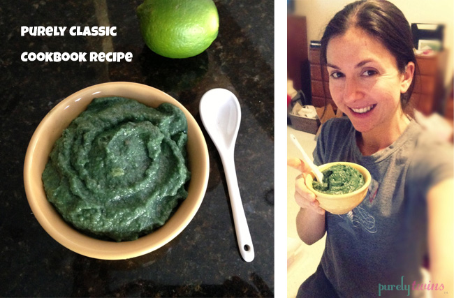 spirulina lime avocado pudding