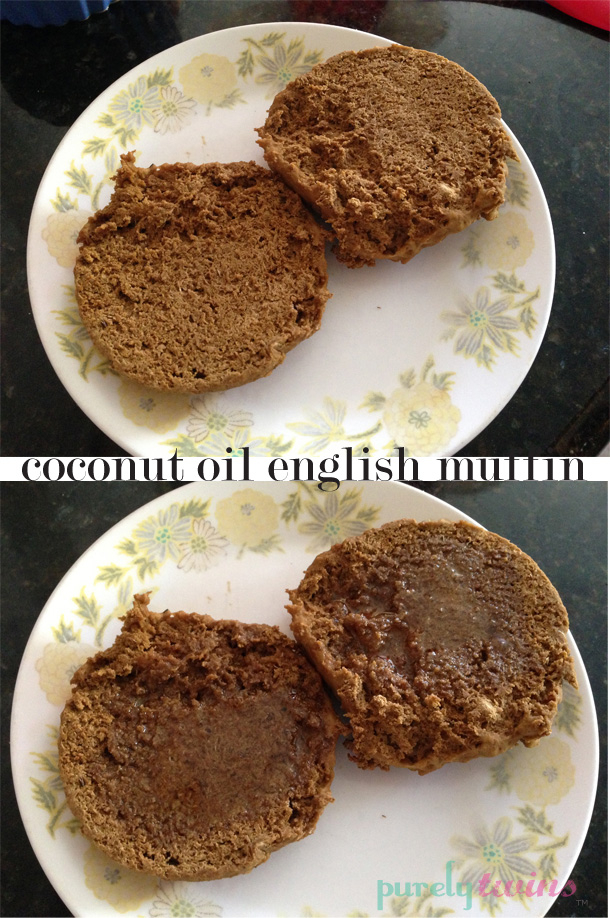 vegan coconut oil english muffin
