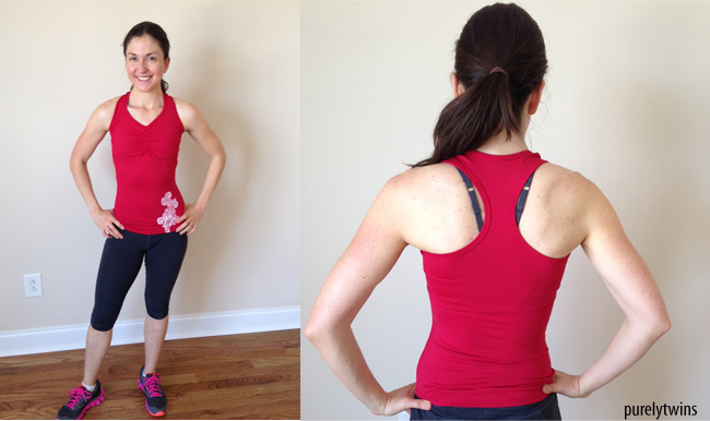 Albion Fit Red Fitness tank