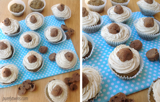 cookie dough protein cupcakes {grain-free, low-sugar}