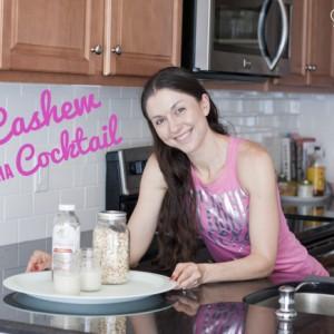 -cashew-kombucha cocktail