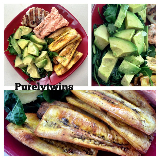 avocado plantain chips dinner
