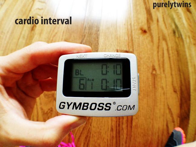 cardio interval timer