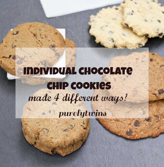 individual cookies made 4 ways