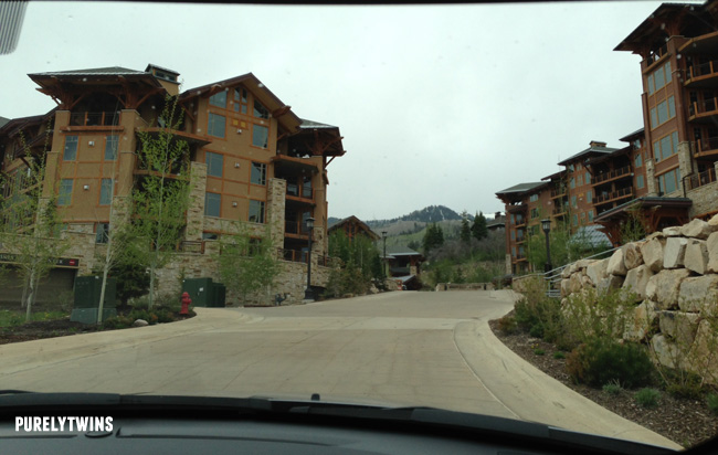 driving up to hotel