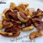 making progress + fried coconut oil plantain chips