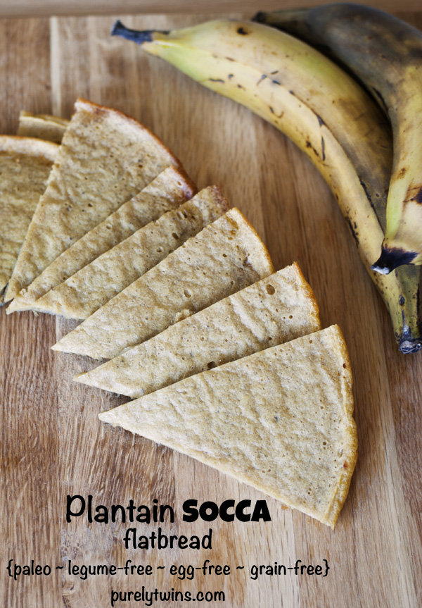 plantain socca recipe (egg-free)