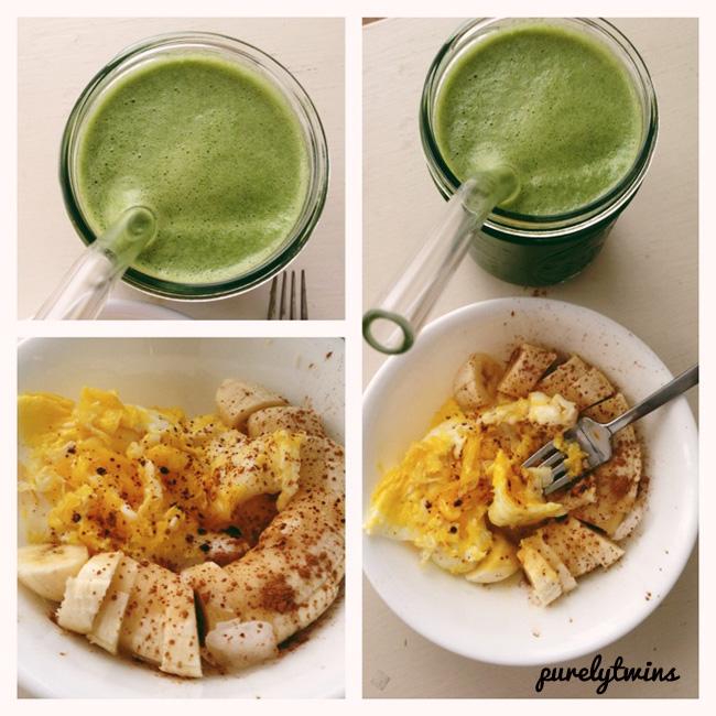 juice egg banana breakfast