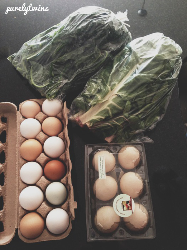 local eggs and greens