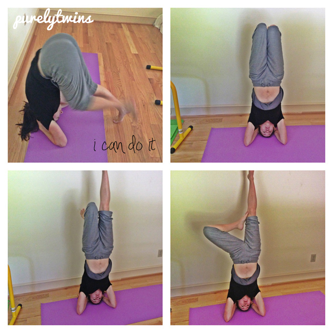 michelle headstands