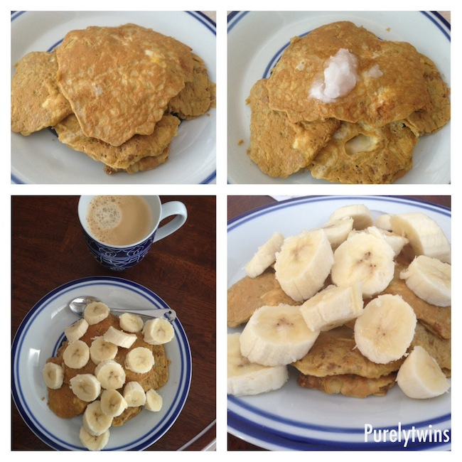 perfect fit egg banana coconut oil pancakes