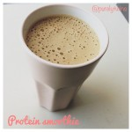 perfect creamy protein shake