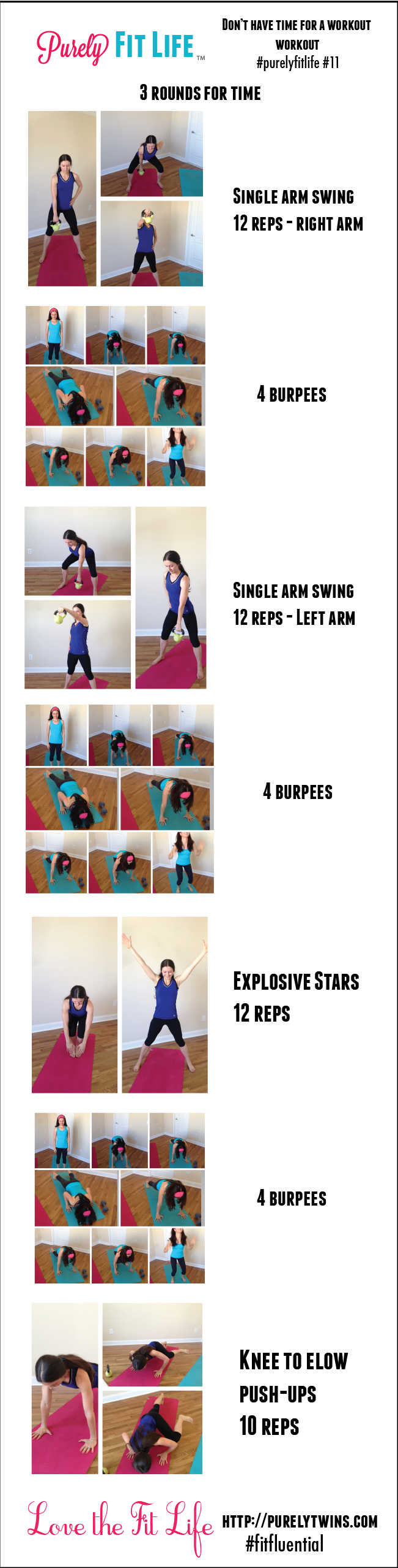 purelyfitlife #11 home workout for when you are short on time