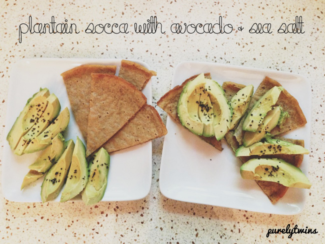 socca avocado snack