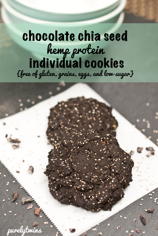 vegan individual chia seed cookies