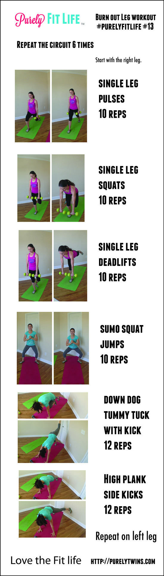 leg and balance workout purelyfitlife