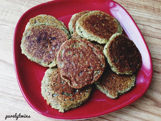 chia seed grain free pancakes