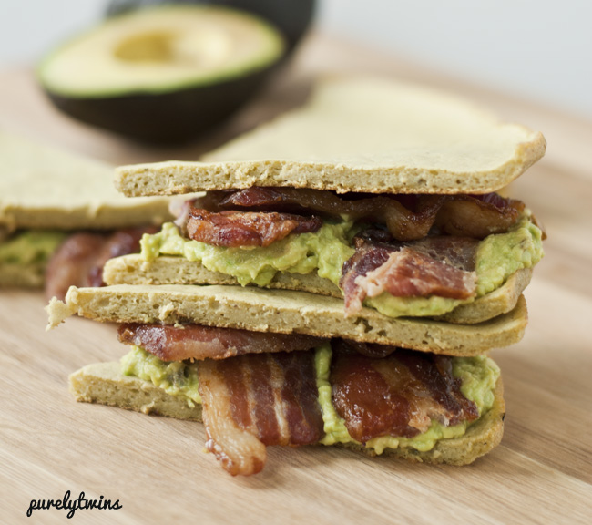 grain-free plantain avocado bacon sandwich