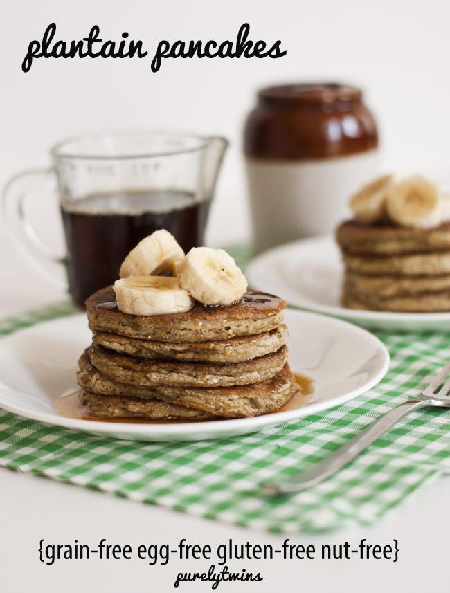 egg free grain free plantain pancakes