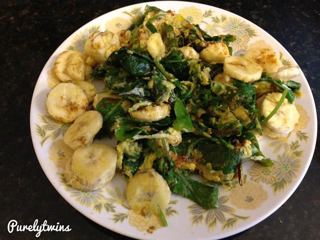 eggs banana spinach breakfast