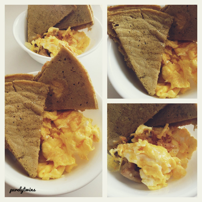 eggs plantain socca