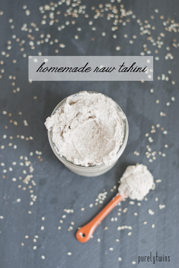 homemade raw tahini