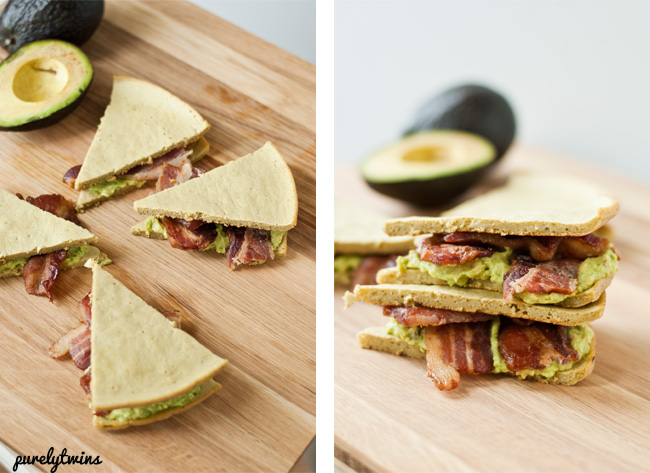how to make bacon grain free avocado sandwich