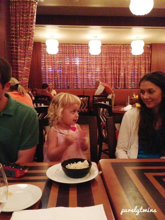 joy at dinner