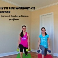 leg burn with balance purely fit life workout #13