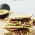 OMG bacon avocado grain-free sandwich