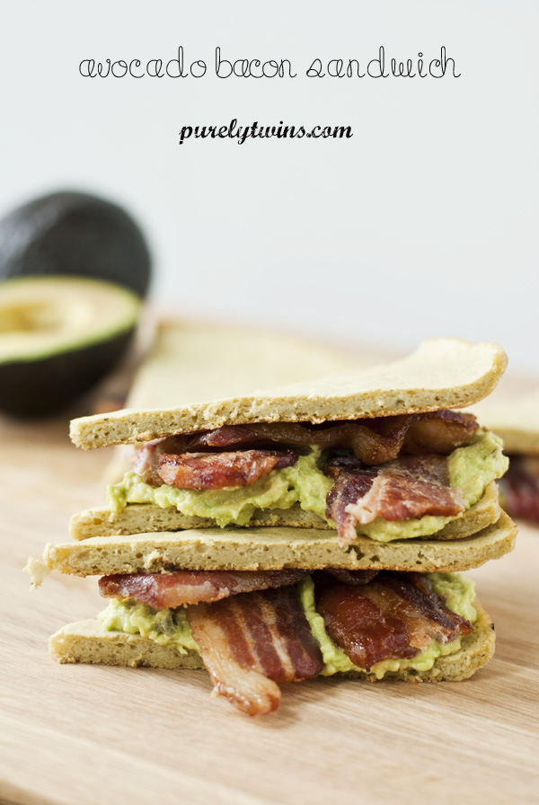 gluten-free plantain avocado bacon sandwich