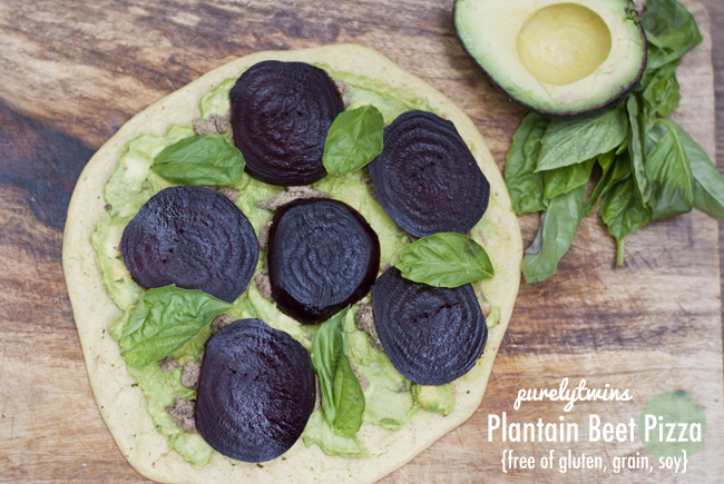 plantain beet pizza