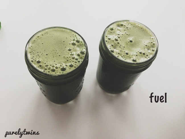 powerful green juice to start the day