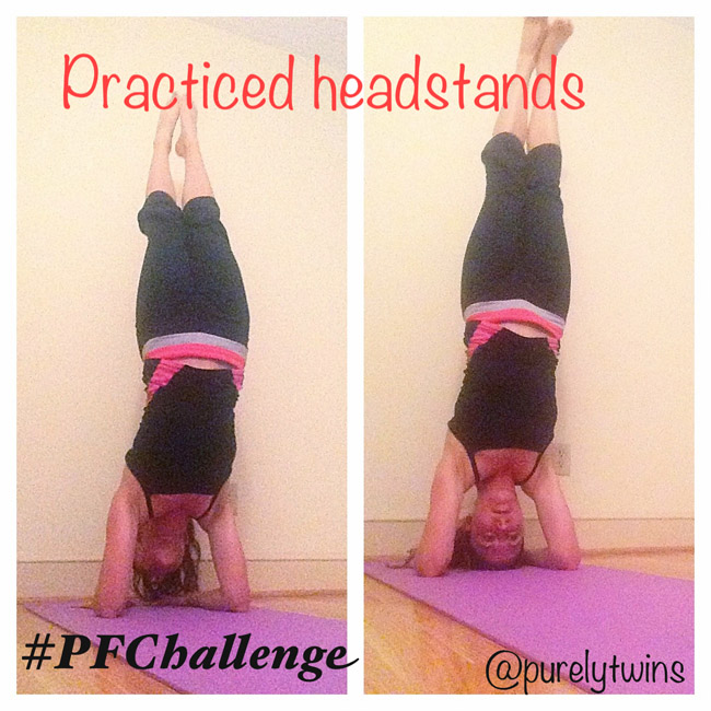 yoga and headstands