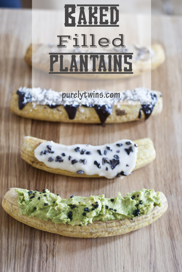 new favorite way to enjoyed baked filled plantains