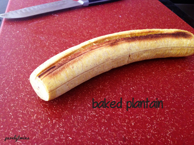 baked plantain