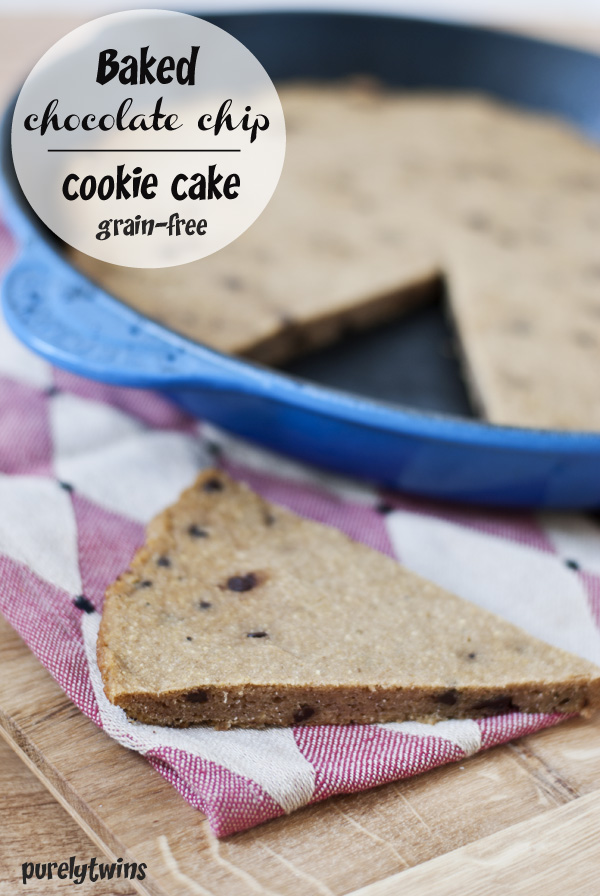 egg-free grain free cookie cake