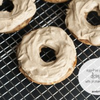 egg-free grain-free plantain donuts with protein frosting