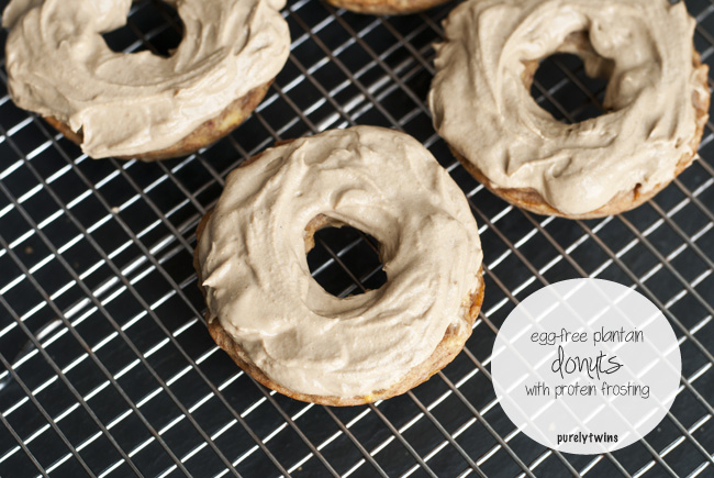 ... for our egg-free grain-free plantain donuts with protein frosting
