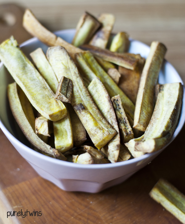 'healthier' baked plantain fries
