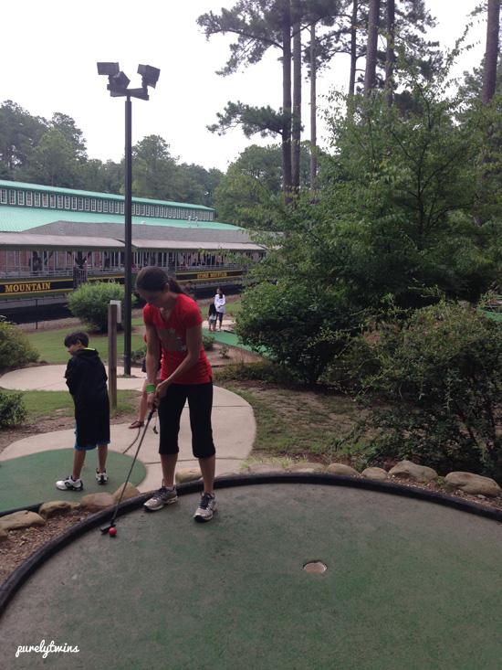 lori playing golf