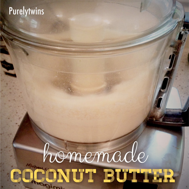 making coconut butter