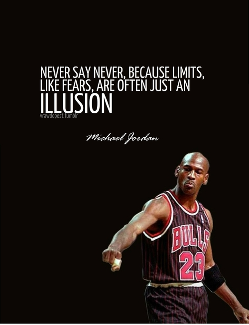never say michael jordan quote