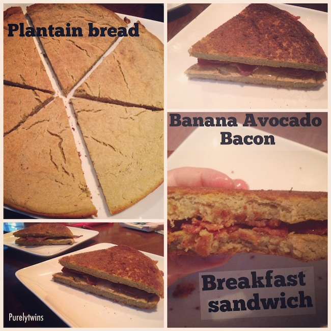 plantain bread bacon sandwich