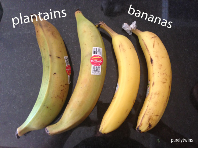 difference between plantain and banana