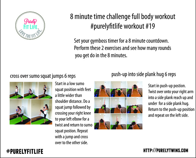 8 minute time challenge #purelyfitlife home workout