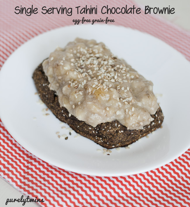 egg-free grain-free tahini brownie
