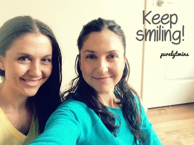 twins keep smiling