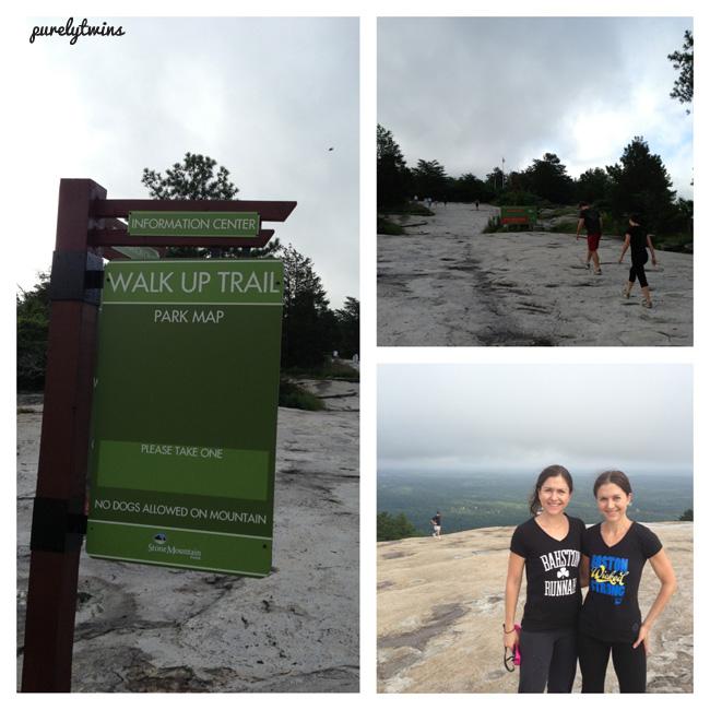 twins stone mountain climb
